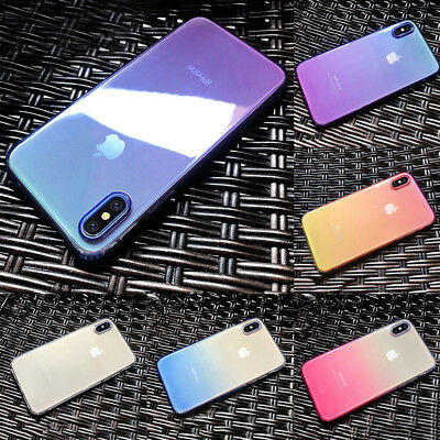 Shockproof Gradient Ombre Soft TPU Case Cover For IPhone 6 6s 7 7 8 Plus 8/X