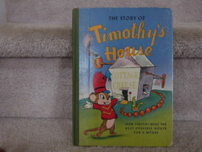 """VINTAGE 1941 Walt Disney Book The Story of Timothy's House from DUMBO 9.5""""x6.75"""""""