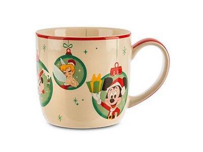 Disney Mickey Minnie Tinker bell Holiday Mug