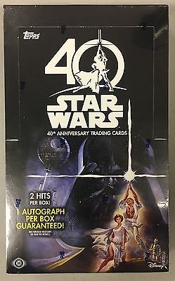 Topps STAR WARS 40th ANNIVERSARY Trading Cards BOX 24 packs - NEW, SEALED