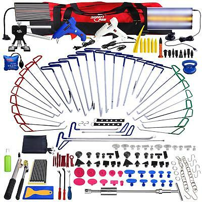 176x Paintless Dent Repair PDR Spring Steel Rods Tools Dent Removal Full Kit Set