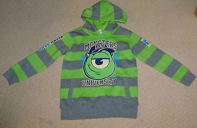 NWT Disney Pixar Monsters University Licensed Boys Hoodie Jumper Size 6 or 8