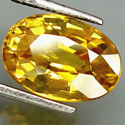 10 x 14mm Yellow Gem Oval Shape Sapphire Natural Loose Gemstone Jewelry 1PC