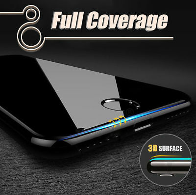 iPhone 8/Plus Full Coverage Tempered Glass Screen Protector wi/ Soft Curved Edge