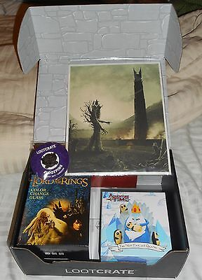 Loot Crate August 2017 Kingdom Lootcrate Adventure Time Lord of the Rings box