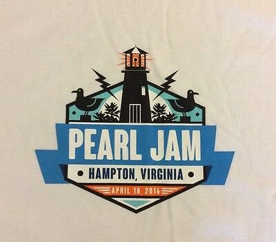 PEARL JAM - Hampton T-SHIRT Size XL - April 18 2016 va WOW not ames