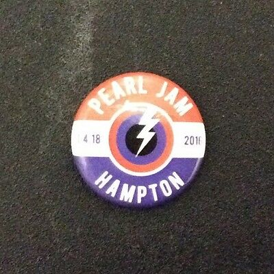 PEARL JAM - Hampton PIN BUTTON - April 18 2016 Pendleton WOW va