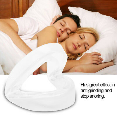 Foldable Bruxism Guard Apnea Aid Anti Grinding Stop Snoring Mouthpiece Tool