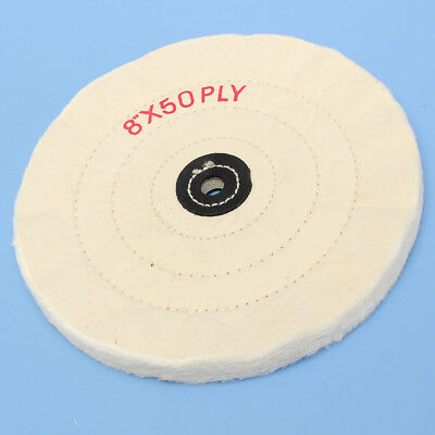 4'' 6'' 8'' White Cloth Buffing Polishing Wheel Arbor Buffer Grinder Polish Pad