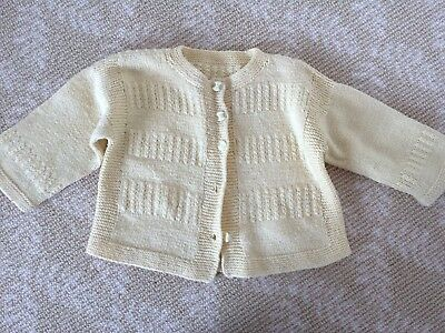 Kids Girls Boys Handmade Knitwear Yellow Long Vest Cardigan Top One Size 0-2