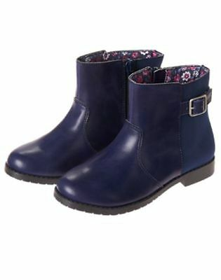 NWT Gymboree Best in Show Navy Blue Boots Booties SZ 12,2 Girls