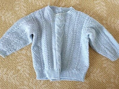 Kids Girls Boys Handmade Knitwear Baby Blue Top Jumper One Size 1 2