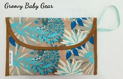 Baby Nappy Bag Wallet / Purse / Clutch * Bush Foral *NEW - FREE POST