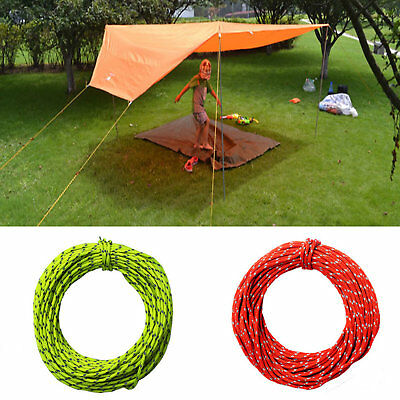 20m Camping Tent Awning Reflective Guyline Rope Runners Guy Line Cord Paracord