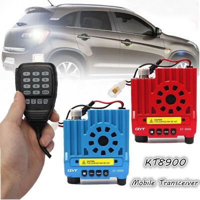 QYT KT8900 136-174/400-480MHz Dual Band VHF UHF Transceiver Car Mobile Radio 25W