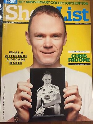 Shortlist Magazine Limited Edition 10th Anniversary Special Chris Froome 7/10