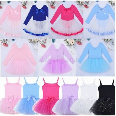 Kid Girl Ballet Dance Tutu Skirt Swan Gymnastics Leotard Dress Ballerina Outfit