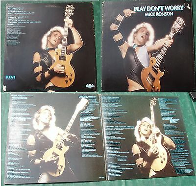 Mick RONSON :   Play don't worry