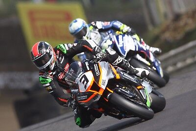 """Giant 15""""x10"""" 2017 British Superbike photo (BSB), Billy McConnell #5"""