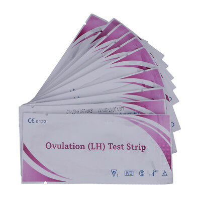Lady 10Pcs Accurate Ovulation (LH) Test Strips Predictors High Sensitivity Easy