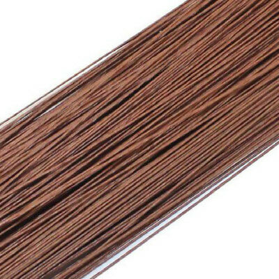 50pcs Brown #26 0.45mm Paper Covered Artificial Branches Twigs Iron Wire 60cm