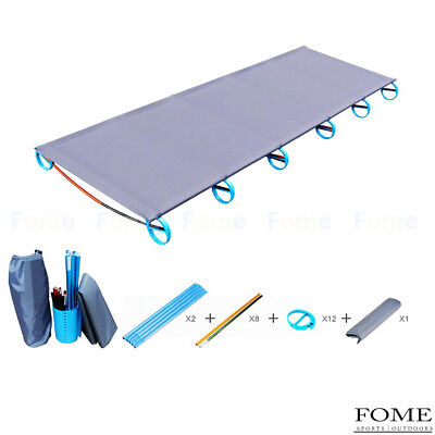 Portable Aluminium Alloy Folding Camping Cot Off Ground Foldable Bed for Adults