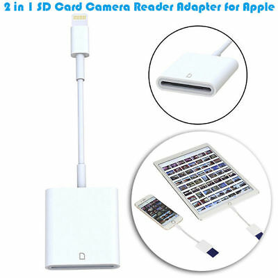 Lightning to SD Card Camera Reader Adapter For iPhone 6S Plus iPad Air 2017 Pro