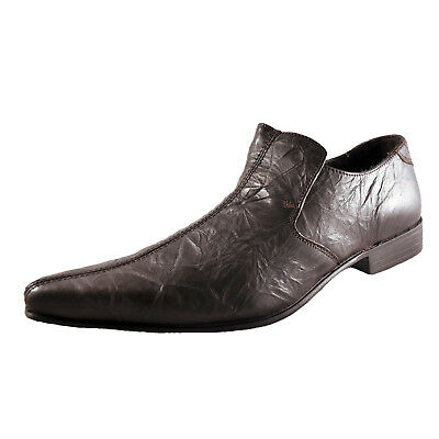 Red Tape Longford Mens Slip On Designer Leather Casual Dress Formal Shoes Brown