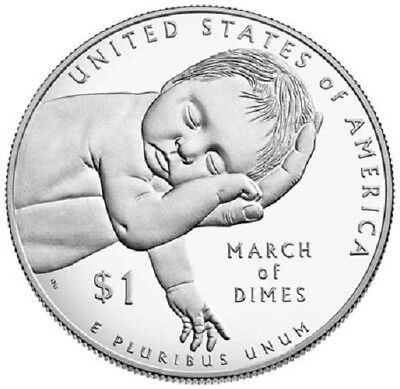 USA 1 Dollar 2015 - 75. Jahrestag March of Dimes - Silber Polierte Platte PP