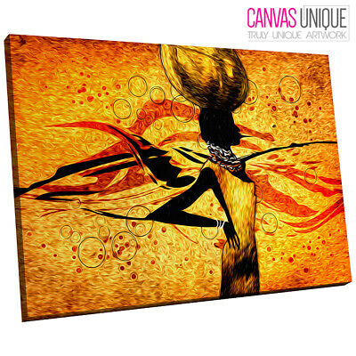 AB739 Tribal african woman orange Canvas Wall Art Abstract Picture ...