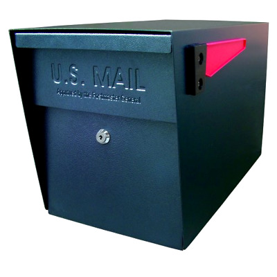 Locking Mailbox MailBoss Curbside Black Epoch 7106 USPS Approved Large Capacity
