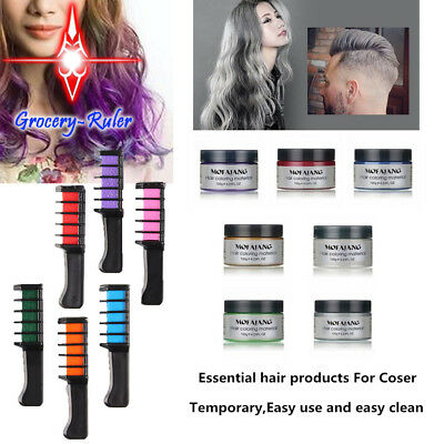 Temporary Dye Colour Hair Chalk Soft Pastel Cream Comb & Brush or Hair Color Wax