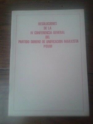 Resoluciones Del La Iv Conferencia General Del Poum (1977)