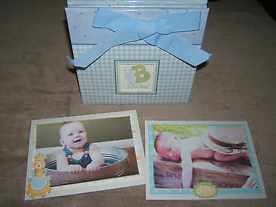 Baby Boy Scrapbook Album/ 5 by 7 premade, ready for your 4 by 6 photos