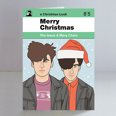 The Jesus and Mary Chain Ltd Edition A5 Christmas Card Indie Goth Shoegaze
