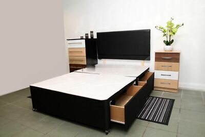 Brand New Divan Base With Storage And Headboard.All Sizes Available.4 colours !