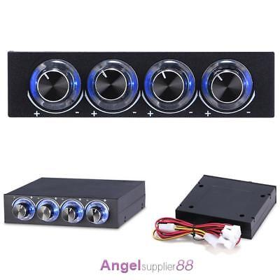 """3.5""""Drive Bay Panel 4X Speed Computer CPU Temperature Cooling Fan Temp Control"""