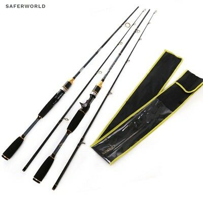 Spinning Casting Fishing Rod Fish tip Lure Gold Carbon Black Yellow Ultra Light