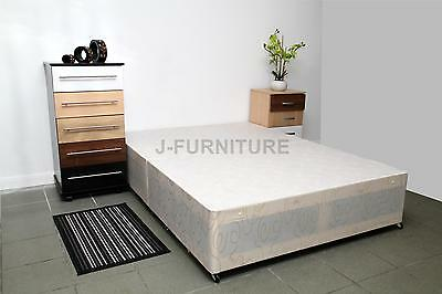 4ft Small Double Divan Bed Base In White Colour! Factory Shop! REAL SALE!