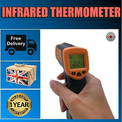 Infrared Thermometer Digital Laser Body & Surface Temperature Measuring Gun IR