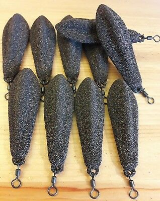 10 x 3 Oz tri lobe leads textured coating for carp fishing in silt or weed