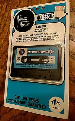 Music Master Dry Type Audio Cassette Tape Head Cleaner New Old Stock Vintage USA