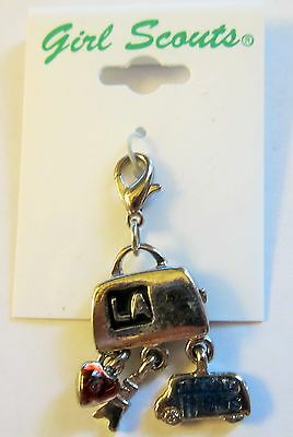 """NEW Girl Scout Cadette Studio 2B Charm """"On The Go"""""""