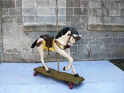 Carousel Wood Horse On Brass Pole-Selling Out Make Offer