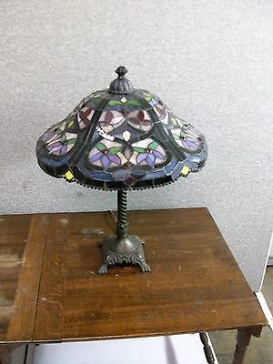 Antique Lamp-Leaded Glass -Selling Out Make Offer