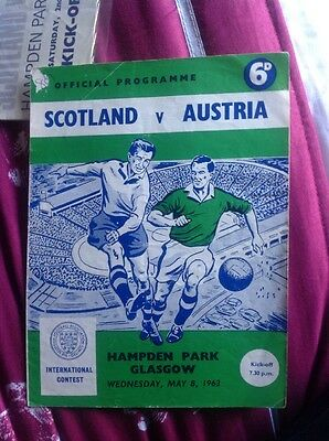 SCOTLAND v AUSTRIA FRIENDLY HAMPDEN PARK 1963