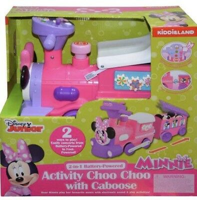 Disney Minnie Mouse Activity Choo Choo Caboose Battery Track Toy Store Gift