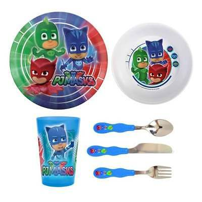PJ Masks 6 Piece Dinner & Cutlery Tableware Set OFFICIAL -