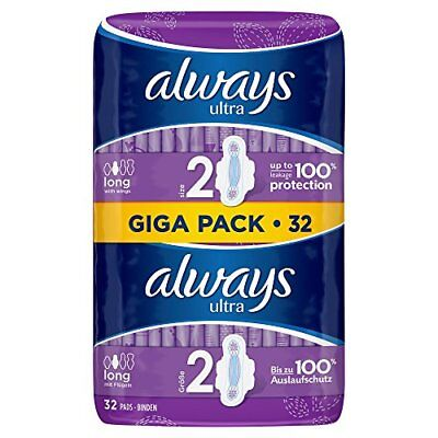 Always compresa Long con alas, 3 Pack (3 x 32 unidades)