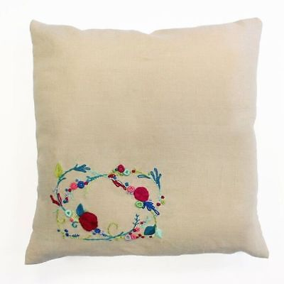 DMC Meadow Sweet - Rose Garland - Embroidery Cushion Kit